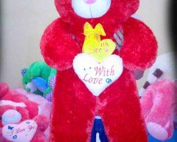 jual boneka teddy bear besar warna merah