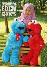 Boneka Elmo Jumbo Merah dan biru