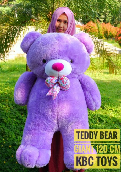 Boneka Teddy Bear Giant Ungu Super Jumbo