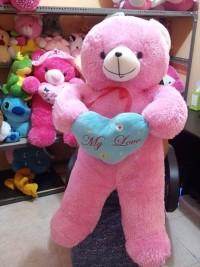 Boneka teedy bear jumbo warna pink ukuran 1,5 meter
