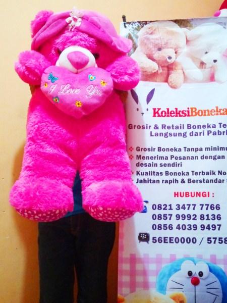 jual boneka teddy bear bertopi jumbo, semarang,surabaya, bandung, medan,pekanbaru,riau, makasar, sulawesi,bali,batam