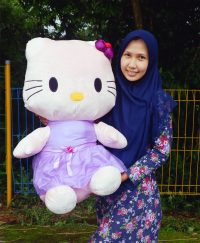 Hello Kitty Jumbo Satin Ungu