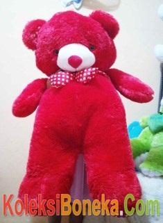boneka teddy bear super jumbo warna merah