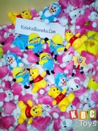 jual gantungan kunci boneka doraemon, panda, hello kitty, teddy bear, line