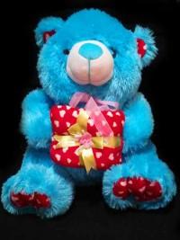 jual boneka teddy bear warna biru cikampek