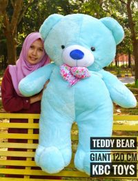 Boneka Teddy Bear Giant Biru Super Jumbo