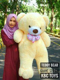 Boneka Teddy Bear Giant Krem Super Jumbo