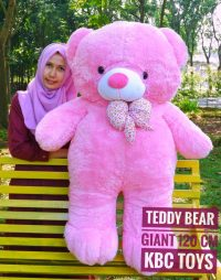 Boneka Teddy Bear Giant Pink Super Jumbo
