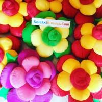 jual bantal bunga warna warni