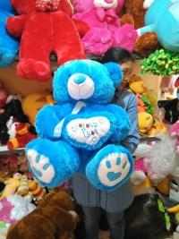 boneka teddy bear telapak biru