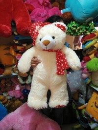 boneka teddy bear syal