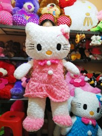 boneka hello kitty jumbo snail pink muda