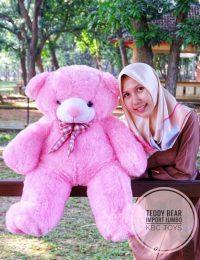 Boneka Bear Import Jumbo Pink