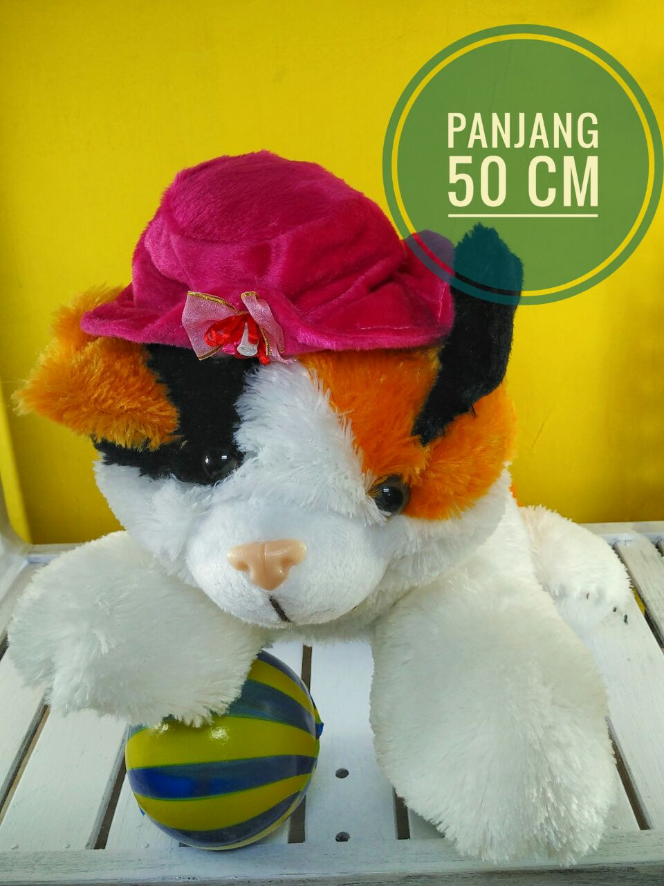 Boneka Kucing Topi L