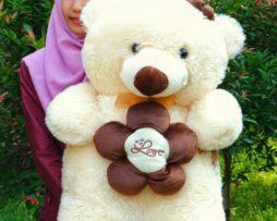 Teddy Bear Bunga Jumbo Krem