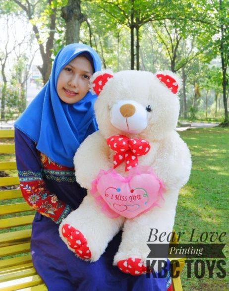 Boneka Teddy Bear Love Printing 90 Cm (2)